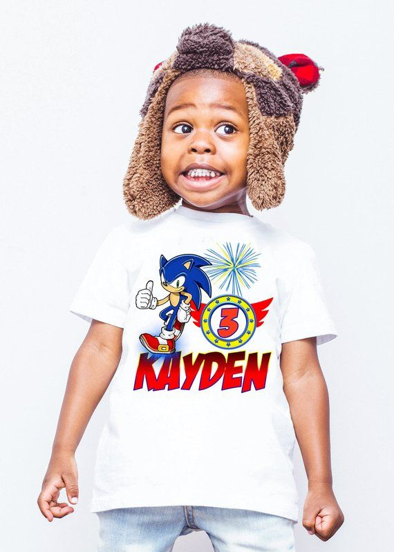 Sonic Birthday Shirt Sonic The Hedgehog Birthday Custom Sonic T Shirts For Family Members Personalized Shir Sonic Birthday Birthday Shirts Hedgehog Birthday