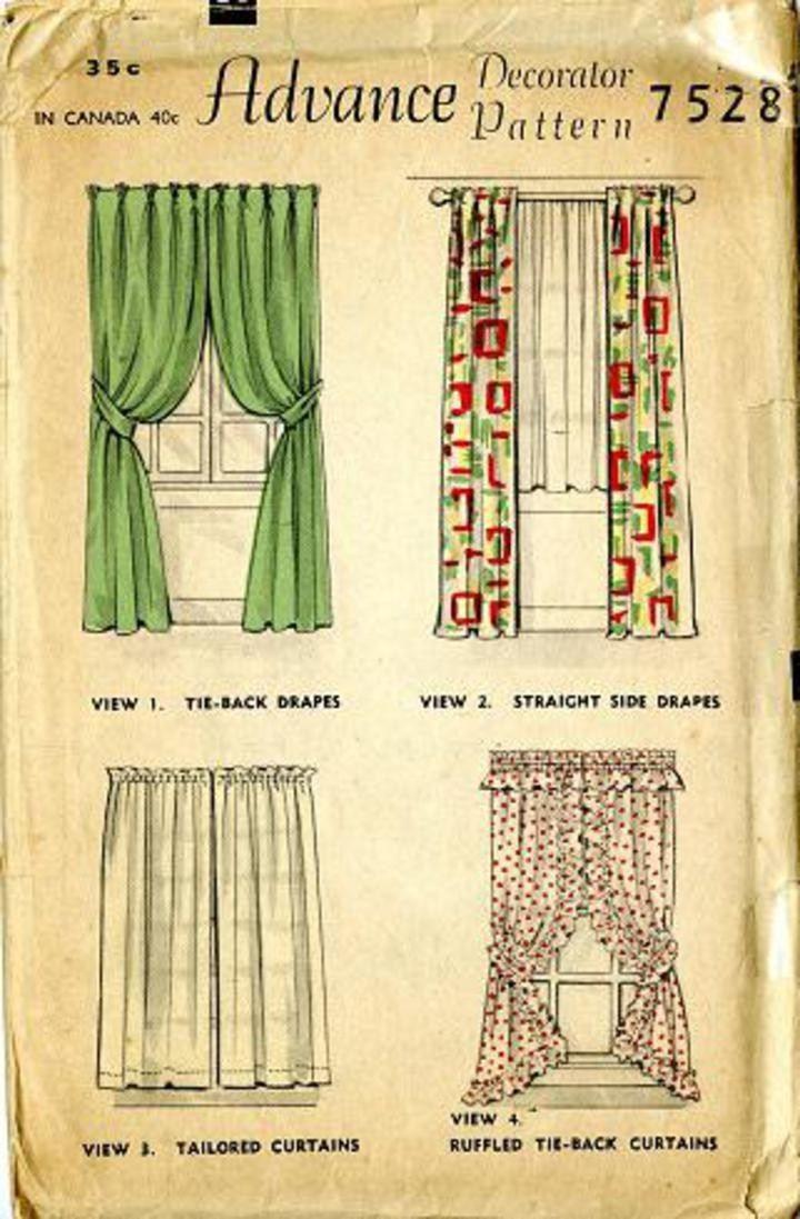 Curtain Sewing Patterns Vintage Pattern Warehouse Vintage Sewing