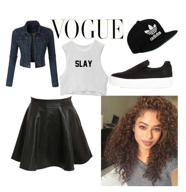 """""""VOGUE"""" by cosmina-styles-alina on Polyvore featuring LE3NO, Pilot, River Island and adidas Originals"""
