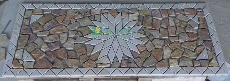 Rosone in pietra per pavimentazioni esterne.  Chiedi subito un preventivo! www.auroramarmi.it