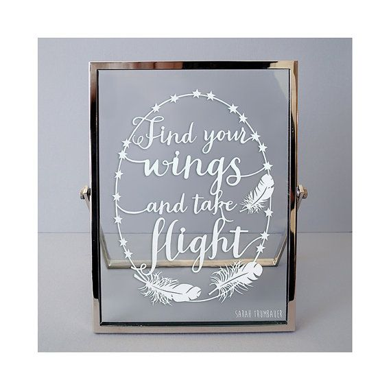 Original Framed Papercut  Find Your Wings  by SarahTrumbauer