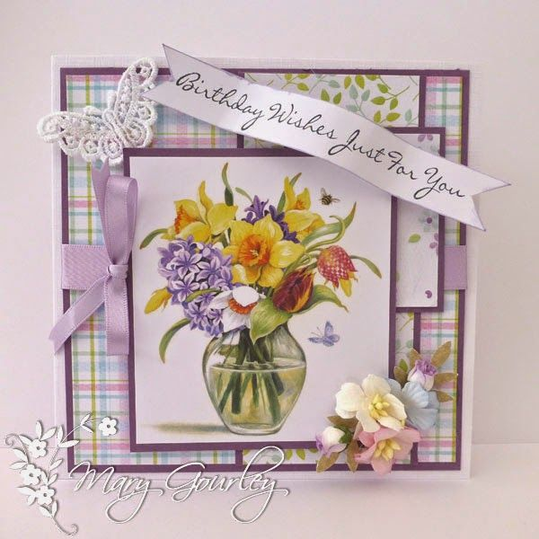 LOTV - Wild Flowers Art Pad with Handwritten Sentiments by Mary Gourley