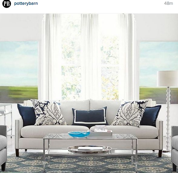 Pottery barn living room blue grey home decor architecture pinterest grey living for Pottery barn living room ideas pinterest
