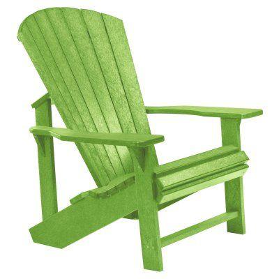 Outdoor CR Plastic Generations Adirondack Chair Kiwi Green   C01 17