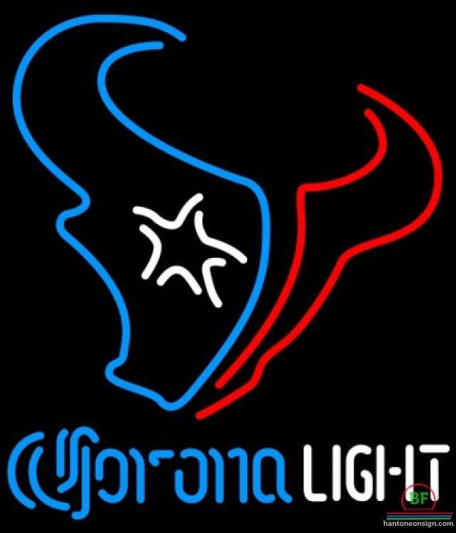 Corona Light Houston Texans Neon Sign NFL Teams Neon Light