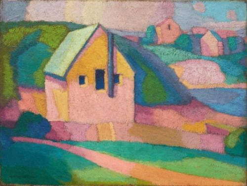 Pierre-Jean Maurel - Roland Wakelin (1887-1971) Syncromy in orange...
