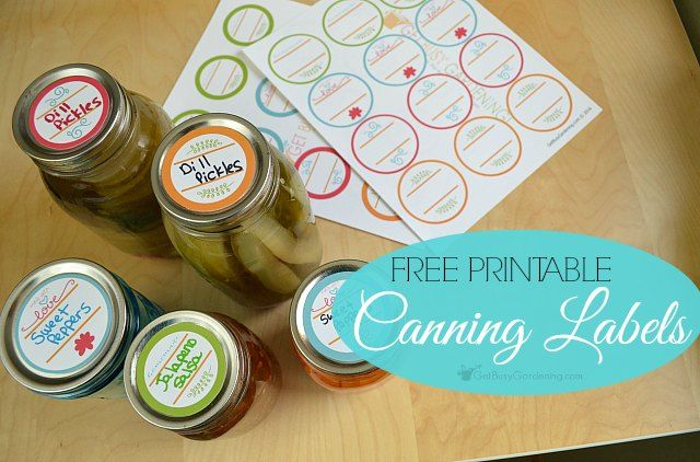 printable canning labels: free downloadable labels for your canning jars