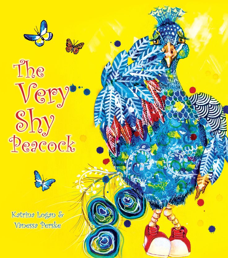 'The Very Shy Peacock' - Peacock's relatives are very proud of their flamboyant, fanned-out feathers and marvellous dancing. But Peacock doesn't want to flutter his feathers. Peacock doesn't want to dance. He most certainly doesn't want to prance. He is far too shy to perform in front of his friends, even if they encourage him ... that is, until he remembers his grandfather's good advice.
