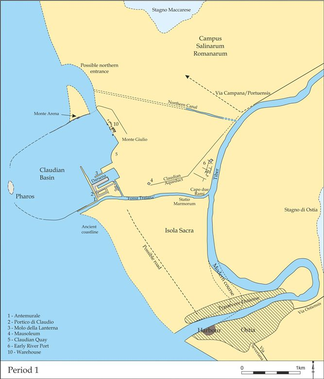 Maps and Plans - Archaeology of Portus: Exploring the Lost Harbour of Ancient Rome