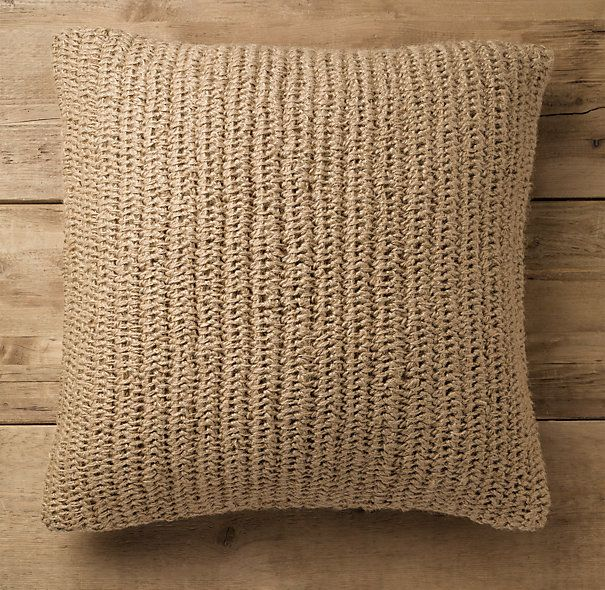 Restoration Hardware Pillows: Simple Elegance... Knitted Jute Pillow Via Restoration