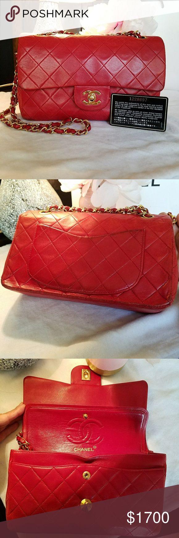 Chanel handbag superb vintage chanel bag vintage leather - Red Chanel Flap Bag Red Chanel Flap Bag Preloved Vintage