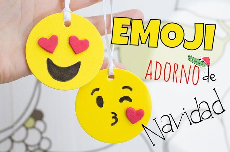 #AdornosdeNavidad ¡Emoji!  Para los fanáticos del #Watsup en #ManualidadesInfantiles verás cómo se hacen :)