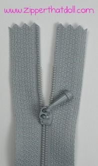 Zipper That Doll - Zippers and velcro made for doll fashion sewing and crafting.