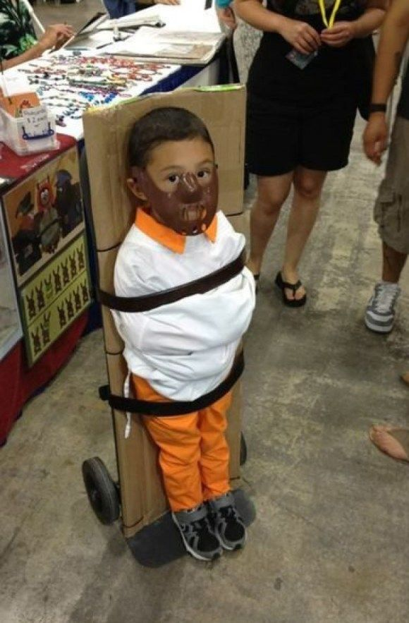 Hannibal Lecter kid.  Halloween.  Some of these are hilarious.  I love the baby Prince and Wayne's World babies.  Lol