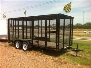 """Big Tex Trailers - 77"""" x 16' x 6 1/2"""" Tall Tandem Axle Trash Trailer and Spare Tire Mount   Model: 50T2-16"""