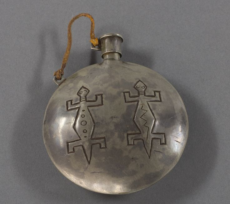 Фляга для пороха, Хопи. 1930 год, серебро. А.