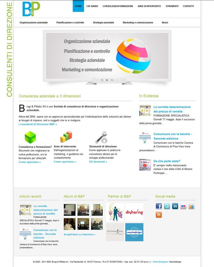Realizzazione del sito per Direzione B, società di consulenza aziendale a Firenze.   web-design + wordpress