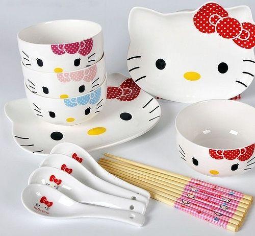 HK |❣| HELLO KITTY Dining Cutlery Set