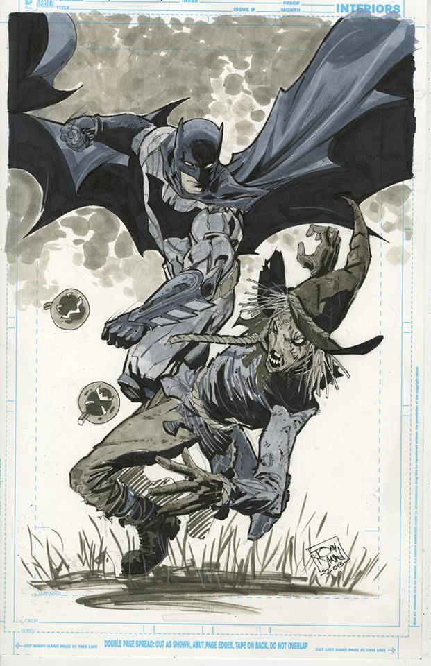 Batman vs Scarecrow by Tony Daniel *