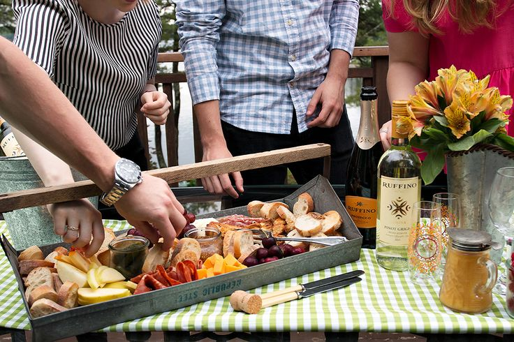 My recipe for casual, outdoor Summer entertaining anywhere is simply this ... friends, family, food, flowers and some great wine!
