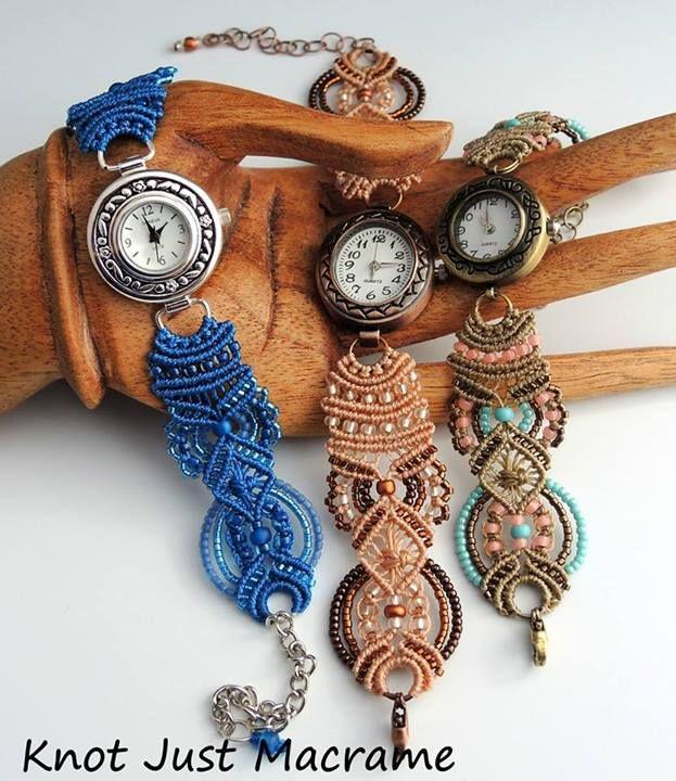 relojes con micromacrame