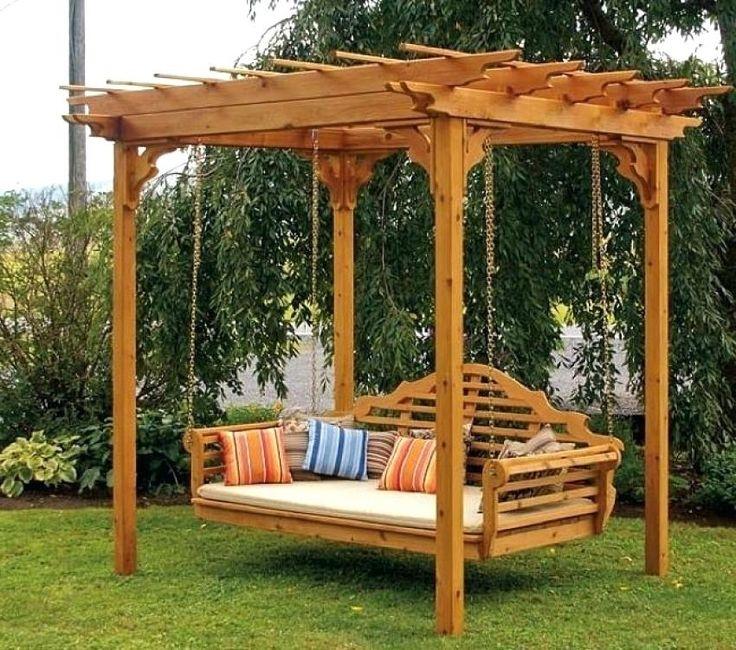 327 best porch bed swings images on pinterest chair swing decks and hammocks - Balancelle de jardin en bois ...