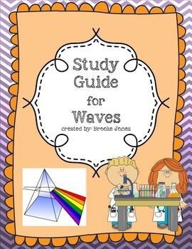 This is a detailed study guide for a Unit on Waves. Topics include: Mechanical vs. Electromagnetic Waves, Longitudinal and Transverse waves, Anatomy of waves, Frequency, Amplitude, Light, Trasmission and Absorbtion of Light, Reflection, Refraction, Diffraction, and Doppler Effect.