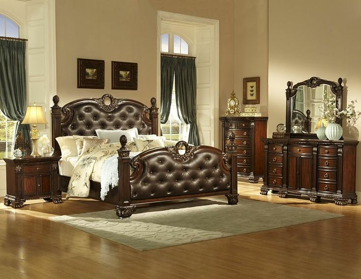 gorgeous dark brown bonded leather button tufted king bed bedroom furniture sale
