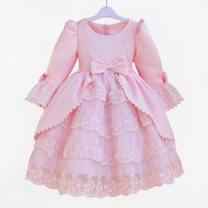 28.98$  Buy here - https://alitems.com/g/1e8d114494b01f4c715516525dc3e8/?i=5&ulp=https%3A%2F%2Fwww.aliexpress.com%2Fitem%2FFormal-dress-patterns-for-girls-pink-western-dance-dress-for-girls-2-12-years-old-princess%2F32308887496.html - Formal Dress Patterns For Girls Pink Western Style Fancy Dance Vestido For Girls 2 -12 Years Old Princess Girls Clothing KD-1436 28.98$