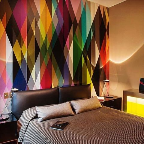 1000 images about wallpaper inspiration on pinterest for Bright bedroom wallpaper