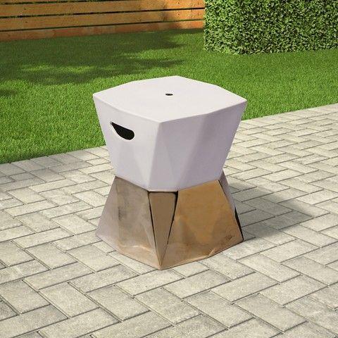 Threshold™ Ceramic Accent Table   Cream/Gold