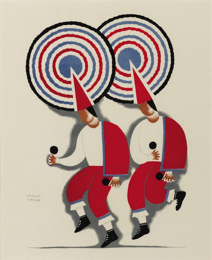 """""""Dances of Mexico,"""" a portfolio of 10 lithographs by Carlos Mérida (1939)"""