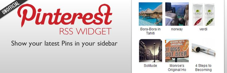 Plugin: Pinterest RSS Widget
