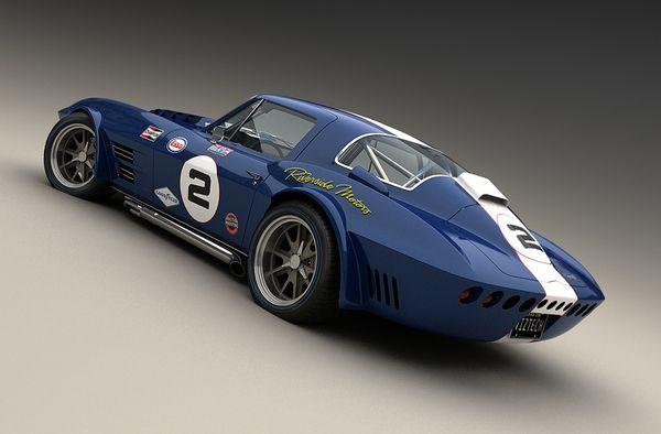 1964 Corvette Grand Sport. #cars #vehicles #corvette