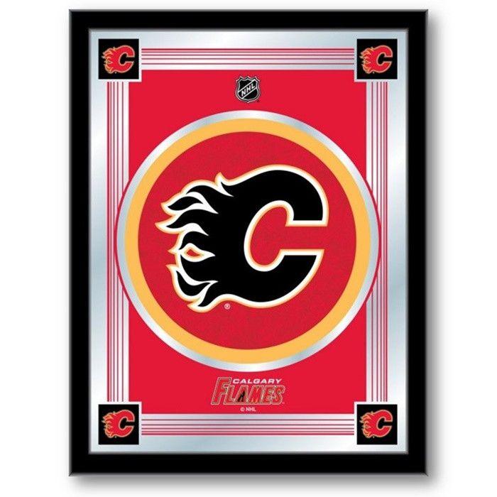 Calgary Flames NHL Logo Mirror