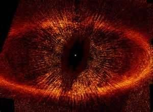 Hubble Peers into the Great Eye of Sauron. It is a Hubble image but it looks like The EYE from Lord of the Rings.