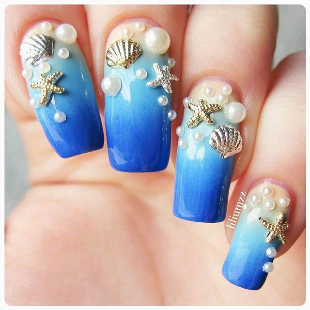 30 3d Acrylic Nail Art Designs Ideas: 25+ Best Ideas About Mermaid Nail Art On Pinterest