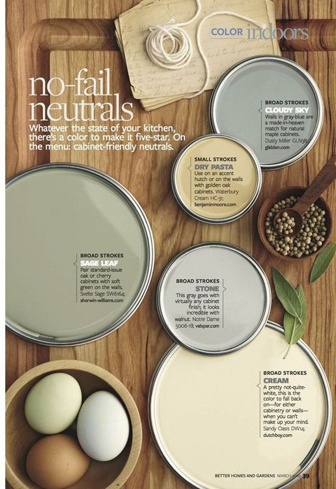 No-fail Neutrals No-fail Neutral paint colors. Dr Pasta by Benjamin Moore. Cloud Sky by Glidden. Sage Leaf Sherwin Williams. Stone Valspar. Creamy Dutch Boy. #NofailNeutrals #NofailNeutralpaintcolors #Neutralpaintcolors