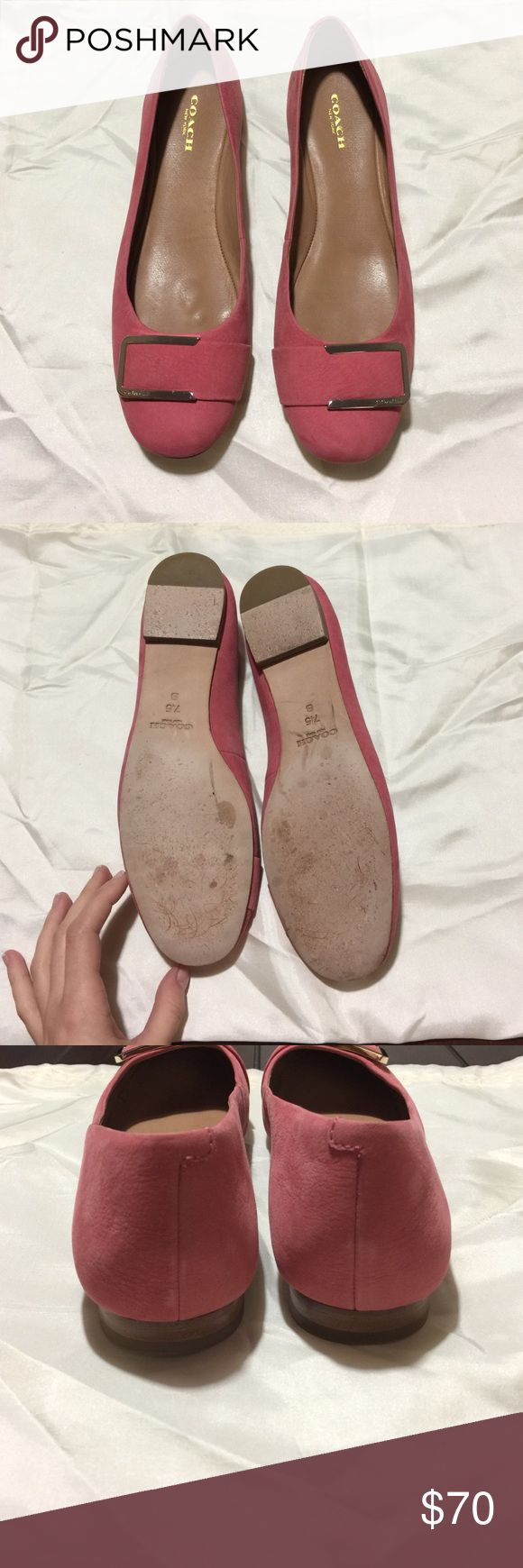 Coach flats Pink Unique Coach flats, minor wear. Any questions just ask! Coach Shoes Flats & Loafers