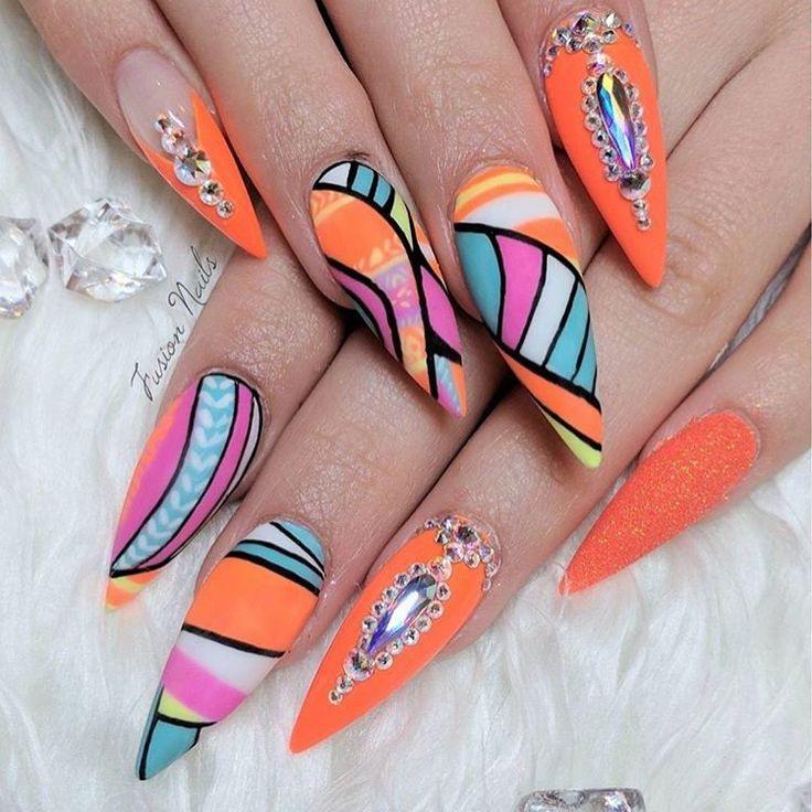 """327 Likes, 2 Comments - #NAILSMAGAZINE (@nailsmagazine) on Instagram: """"Orange crush by @fusionnails #nails #nailart #notd #nailsmagazine"""""""