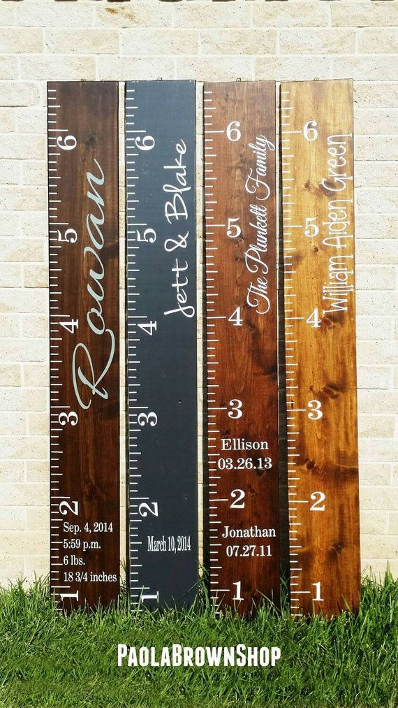 Kids decor growth chart  Check out this item in my Etsy shop https://www.etsy.com/listing/246414047/wooden-height-chart-kids-height-chart