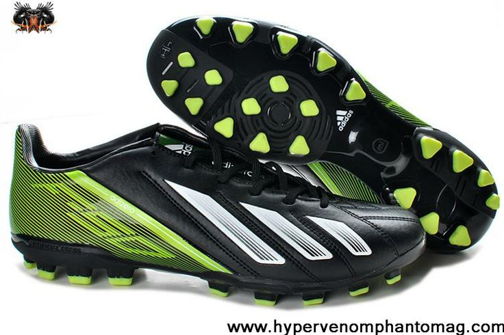 Adidas F10 TRX AG Football Boots Messi 7 - Black White Green Soccer Boots For Sale