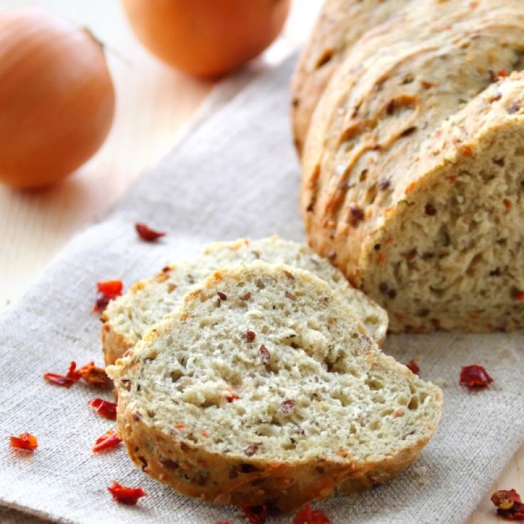 A very yummy recipe for homemade onion paprika pepper bread.. Onion Paprika Pepper Bread Recipe from Grandmothers Kitchen.