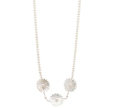 Multi Pearl Stationed Necklace #theshoppingchannel.com. #pearls #gems #freshwater #motherofpearl. #necklace #flowers #gemstones #fashion. #statementnecklace #vougue