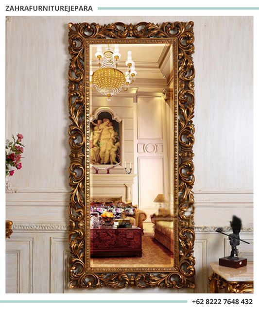 Cermin Panjang Mewah Ukuran Besar Hias Bingkai Dinding Pigura Ukir Jati Jepara Di 2018 Pinterest Decor Mirror Dan Furniture