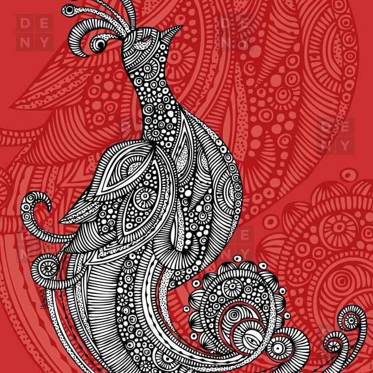 Bungalow Rose Deepak The Bird Shower Curtain