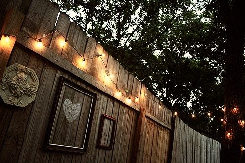 Outdoor String Lights On Fence : 17 Best ideas about Fence Lighting on Pinterest Solar deck lights, Solar lights for yard and ...