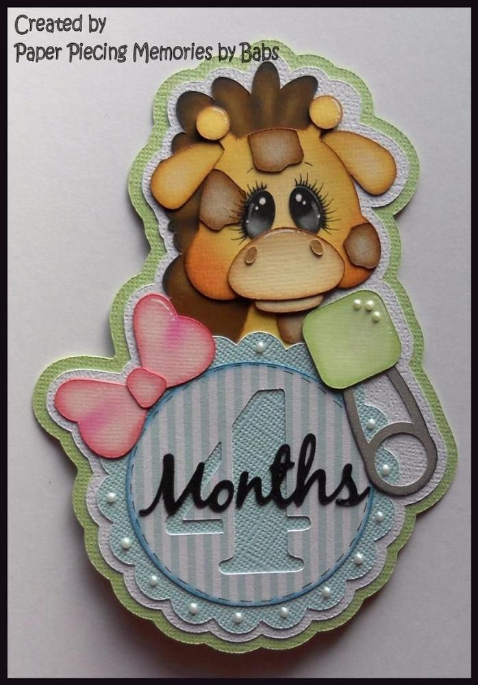 Pregnancy/Baby Month 4 Premade Paper Piecing Die Cut for Scrapbook Page by Babs Created by Paper Piecing Memories by Babs