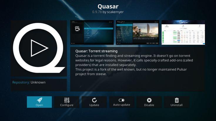 How To Stream Torrents On Kodi Using The Quasar Add On Kodi Torrent Streaming