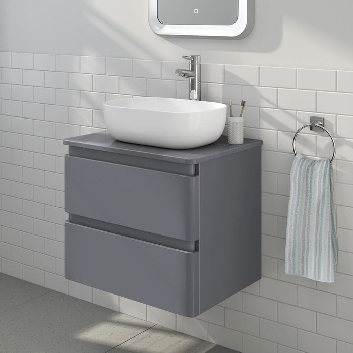 Pin By Amy Baker On Bathroom Countertop Basin Bathroom Grey